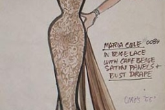 Gown designed for Maria Cole